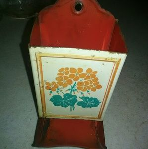 Other - Antique metal match box holder wall hanging